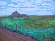 Old Barn Paintings - Backroad by Mike Bolan