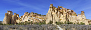 Rock Formations Prints - Backroads Utah Panoramic 2 Print by Mike McGlothlen