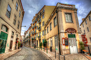 Backstreets Prints - Backstreets Of Lisbon Print by Nigel Hamer