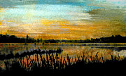 River Flooding Pastels Prints - Backwaters Print by R Kyllo