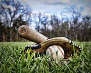 Backyard Baseball Memories Print by Cricket Hackmann
