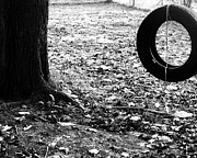 Michael Aviles Posters - Backyard Playground-Tree with tire Poster by Michael Aviles