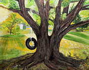 Backyard Tree Memories Print by Susan Abrams