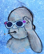 Sunglasses Pastels - Bad Ass Baby #17 by Danyl Cook