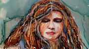 Portraits Paintings - Bad Bad Day by Lynn Callahan