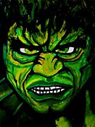 Hulk Drawings - Bad Day by David Rogers