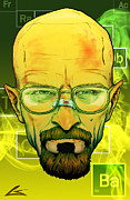Breaking Framed Prints - Bad Heisenberg Framed Print by Charles Styles