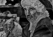 Drunk Drawings Originals - Bad Santa by Jeremy Moore