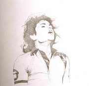 Mj Drawings - Bad Tour sketch by Lillian Melker