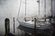 Docked Boat Digital Art Prints - Bad Weather Print by Brian Wallace