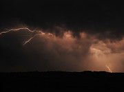 Constellations Photo Posters - Badlands Lightning Poster by Chris  Brewington Photography LLC