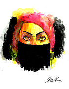 Abstract Hijab Framed Prints - Baduism Framed Print by Kiana Llanos