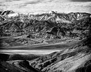 Panamint Valley Photos - Badwater and Panamint Range Death Valley National Park by Troy Montemayor