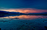 Sunset Framed Prints - Badwater Sunset Framed Print by Cat Connor