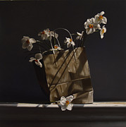 Realism Photo Prints - BAG of NARCISSUS Print by Larry Preston