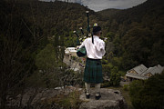 Walhalla Framed Prints - Bag Pipes Overlooking Walhalla Framed Print by Craig Jenner