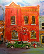 Litvack Paintings - Bagg Street Shul by Michael Litvack