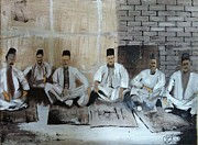 Baghdad Painting Framed Prints - Baghdadi Jews 1920s Framed Print by Rami Besancon