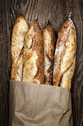 Bread Framed Prints - Baguettes  Framed Print by Elena Elisseeva
