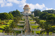 Kobby Dagan Posters - Bahai gardens Poster by Kobby Dagan