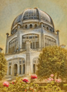 House Of Worship Framed Prints - Bahai  Temple in Wilmette Framed Print by Rudy Umans