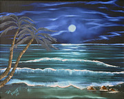 Sea Scape Paintings - Bahama Blue by Thomas DOrsi
