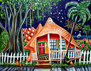 Key West Paintings - Bahama Conch House by Abigail White