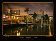Boat Docks Framed Prints - Bahia Cabana Docks Framed Print by John Stephens