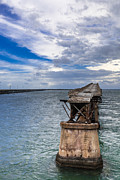 Abandoned Digital Art Originals - Bahia Honda Bridge By Day by Dan Vidal