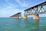 Florida Bridge Photo Originals - Bahia Honda Bridge by Denise Thompson