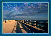 Mile Road Posters - Bahia Honda Bridge in the Florida Keys Poster by Susanne Van Hulst