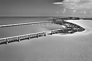 Flagler Prints - Bahia Honda BW Print by Patrick M Lynch