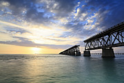 Great Poster Pyrography Posters - Bahia Honda Old Bridge Poster by Eyzen Medina