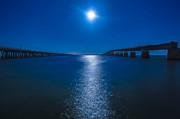Bahia Moonrise Print by Dan Vidal