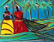 Mediative Paintings - Baianas At The Shore by Fatima Neumann