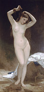Bouguereau; William-adolphe (1825-1905) Paintings - Baigneuse or Bather by William-Adolphe Bouguereau