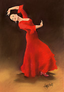 Andalucia Paintings - Bailaora by Margaret Merry