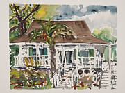 ; Maui Drawings Framed Prints - Bailey House Museum Maui Framed Print by Fred Truitt
