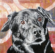 Pooch Paintings - Bailey by PainterArtist FINs husband Maestro