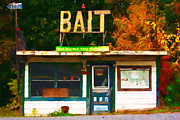 Small Town Digital Art Prints - Bait Shop 20130309-3 Print by Wingsdomain Art and Photography
