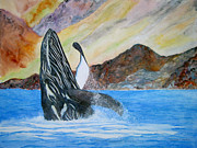 Sea Of Cortez Paintings - Baja Breach by Patricia Beebe