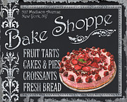 Restaurant Cafe Prints - Bake Shoppe Print by Debbie DeWitt