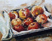 Lebensmittel Prints - Baked Apples Print by Barbara Pommerenke