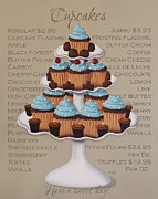 Cupcake Art Prints - Baked Fresh Daily Print by Catherine Holman
