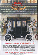 Nineteen-tens Art - Baker Electric Cars 1910s Usa by The Advertising Archives