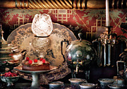 Teapot Metal Prints - Baker - Ready for the party Metal Print by Mike Savad