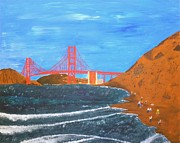 Original  By Artist Paintings - Bakers Beach San Francisco by Ron Davidson