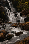 Lanscape Metal Prints - Bakers Fall. Horton Plains National Park. Sri Lanka Metal Print by Jenny Rainbow