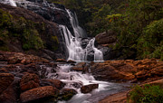 Horton Prints - Bakers Fall II. Horton Plains National Park. Sri Lanka Print by Jenny Rainbow