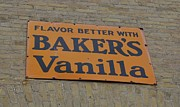 Sign. Cupcakes Prints - Bakers Vanilla Print by Daryl Macintyre